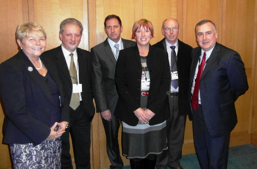 Cardigan Traders at Westminster with Baroness Randerson